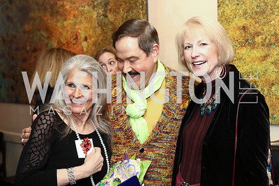 Barbara Hawthorn, Jose Alberto Ucles, Lola Reinsch. Photo by Tony Powell. Manuela's Fearless Woman Award. Il Canale. January 8, 2017