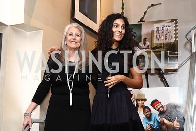 Barbara Hawthorn, Manuela Testolini. Photo by Tony Powell. Manuela's Fearless Woman Award. Il Canale. January 8, 2017