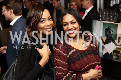 Fox 5's Micheline Bowman, Fortune 5 Luxury Water's Tahisha Brooks. Photo by Tony Powell. Manuela's Fearless Woman Award. Il Canale. January 8, 2017