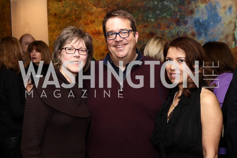 Lori Jenkins and George Swygert, Diana Villarreal. Photo by Tony Powell. Manuela's Fearless Woman Award. Il Canale. January 8, 2017