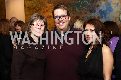 Lori Jenkins and George Swygert, Diana Villarreal. Photo by Tony Powell. Manuela's Fearless Woman Award. Il Canale. January 8, 2017