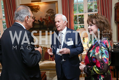 Amb. Peter Romero, Amb. Lloyd Hand and Ann Hand. Photo by Tony Powell. Mary Ourisman Diplomacy Museum Event. May 31, 2017