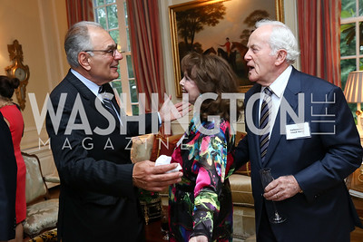 Amb. Peter Romero, Ann Hand and Amb. Lloyd Hand. Photo by Tony Powell. Mary Ourisman Diplomacy Museum Event. May 31, 2017