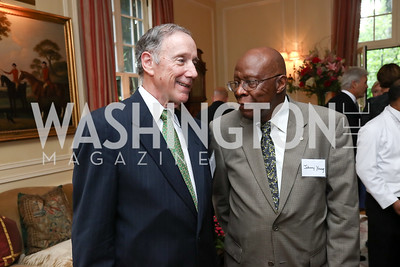 Amb. Thomas McNamara, Amb. Johnny Young. Photo by Tony Powell. Mary Ourisman Diplomacy Museum Event. May 31, 2017