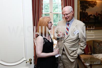 Nancy Zinn, Amb. William Harrop. Photo by Tony Powell. Mary Ourisman Diplomacy Museum Event. May 31, 2017