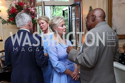 Amb. Mary Ourisman, Amb. Johnny Young. Photo by Tony Powell. Mary Ourisman Diplomacy Museum Event. May 31, 2017