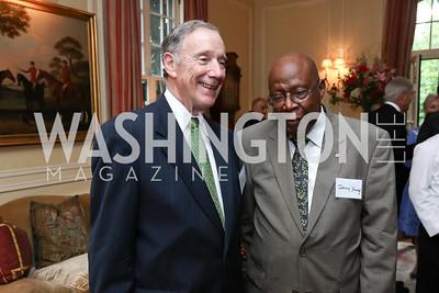 Amb. Thomas McNamara, Amb. Johnny Young. Photo by Tony Powell. Mary Ourisman Diplomacy Museum Event. May 31, 2017
