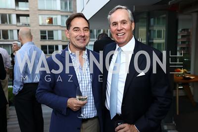 Christian Zapatka, Matt McCormick. Photo by Tony Powell. Matt McCormick Launch Party. Squash On Fire. September 13, 2017