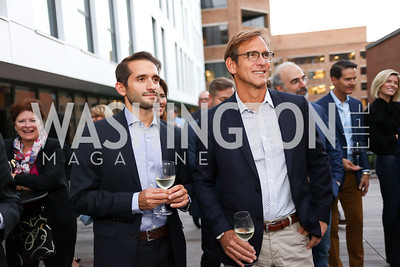 Matt D'Amico, Scott Brinitzer. Photo by Tony Powell. Matt McCormick Launch Party. Squash On Fire. September 13, 2017