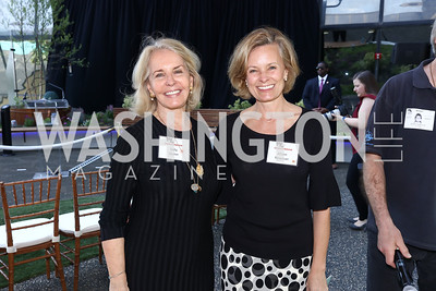 Sally Quinn, Alison Newman. Photo by Tony Powell. Bunny Mellon Healing Garden Ribbon Cutting. CNMC. April 28, 2017