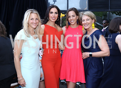 Carrie Marriott, Amy Baier, Sarah Cohen, Marcy Cohen. Photo by Tony Powell. Bunny Mellon Healing Garden Ribbon Cutting. CNMC. April 28, 2017