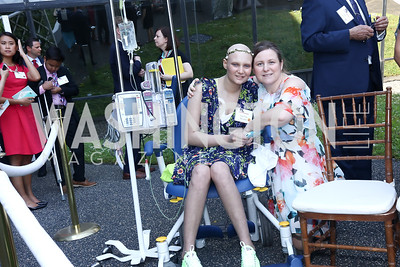 Caolilinn McLane and Elizabeth McLane. Photo by Tony Powell. Bunny Mellon Healing Garden Ribbon Cutting. CNMC. April 28, 2017