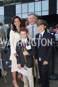 Heather, Matthew, Andy, and Christopher Florance. Photo by Tony Powell. Bunny Mellon Healing Garden Ribbon Cutting. CNMC. April 28, 2017