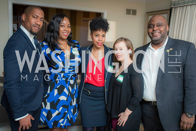 Damion Thomas, Faizah Carr, Temi Bennett, Heather Moss, Romell Cummings, National Museum of African American History & Culture, Meet The Museum, February 23, 2017.  Photo by Ben Droz