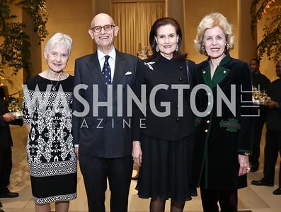 Maureen Scalia, Bill Nitze, Alexandra de Borchgrave, Ann Nitze. Photo by Tony Powell. National Gallery Della Robbia Opening. February 1, 2017