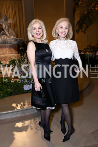 Lisa Brandt Beek and mother Evelyn Brandt. Photo by Tony Powell. National Gallery Della Robbia Opening. February 1, 2017