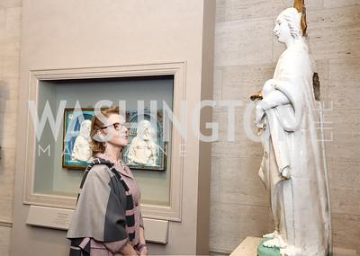 Mimi Dorment. Photo by Tony Powell. National Gallery Della Robbia Opening. February 1, 2017
