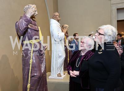 Linda Goold, Denise Ferguson. Photo by Tony Powell. National Gallery Della Robbia Opening. February 1, 2017