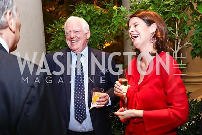 Rusty Powell, Alessia Antinori. Photo by Tony Powell. National Gallery Della Robbia Opening. February 1, 2017