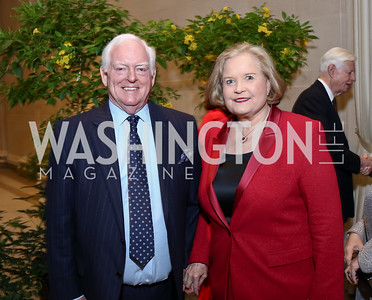 Rusty Powell, Sharon Percy Rockefeller. Photo by Tony Powell. National Gallery Della Robbia Opening. February 1, 2017