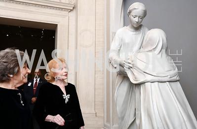 Clarice Smith, Buffy Cafritz. Photo by Tony Powell. National Gallery Della Robbia Opening. February 1, 2017