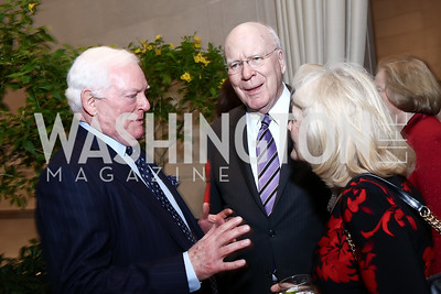 Rusty Powell, Sen. Patrick Leahy, Marcelle Leahy. Photo by Tony Powell. National Gallery Della Robbia Opening. February 1, 2017