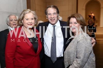 Sharon Percy Rockefeller, Peter and Judy Kovler. Photo by Tony Powell. National Gallery Della Robbia Opening. February 1, 2017