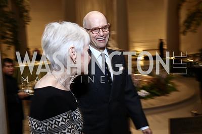 Maureen Scalia, Bill Nitze. Photo by Tony Powell. National Gallery Della Robbia Opening. February 1, 2017