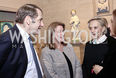Peter and Judy Kovler, Jill Udall. Photo by Tony Powell. National Gallery Della Robbia Opening. February 1, 2017