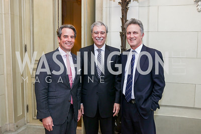 Amb. Stuart Holliday, Former Sec. Carlos Gutierrez, John Dashwood. Photo by Tony Powell. Reception in Honor of Newly Arrived Ambassadors. Meridian. September 7, 2017