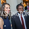 Natalie Jones, Togo Amb. Frederic Hegbe. Photo by Tony Powell. Reception in Honor of Newly Arrived Ambassadors. Meridian. September 7, 2017