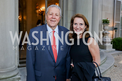 Former Rep. John Tanner, Lisa Colangelo. Photo by Tony Powell. Reception in Honor of Newly Arrived Ambassadors. Meridian. September 7, 2017