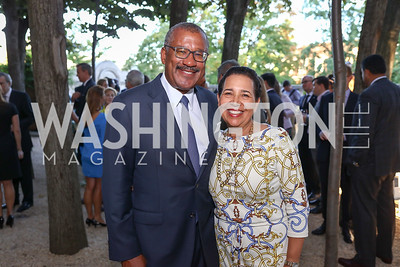 Dwight and Toni Bush. Photo by Tony Powell. Reception in Honor of Newly Arrived Ambassadors. Meridian. September 7, 2017