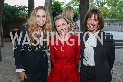 Stacy Swanson, Megan Beyer, Laura Patten. Photo by Tony Powell. Reception in Honor of Newly Arrived Ambassadors. Meridian. September 7, 2017