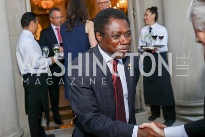 Togo Amb. Frederic Hegbe. Photo by Tony Powell. Reception in Honor of Newly Arrived Ambassadors. Meridian. September 7, 2017
