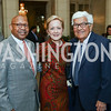 Former Sec. Alphonso Jackson, Ann Stock, Amb. Tom Korologos. Photo by Tony Powell. Reception in Honor of Newly Arrived Ambassadors. Meridian. September 7, 2017