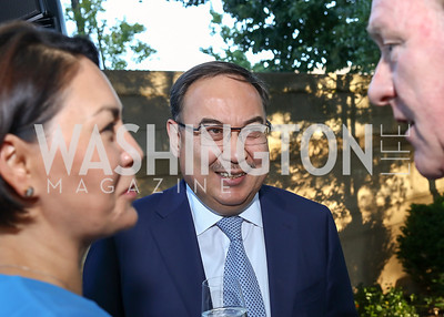 Kazakhstan Amb. Erzhan Kazykhanov. Photo by Tony Powell. Reception in Honor of Newly Arrived Ambassadors. Meridian. September 7, 2017