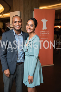 Elvis Guzman, Dimple Patel, No Kid Hungry, Benefit Dinner at The Range, September 26, 2017.  Photo by Ben Droz