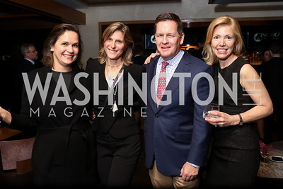 Helgi Walker, Skye Raiser, Paul and Elizabeth Dougherty. Photo by Tony Powell. Nobu DC Opening Sake Ceremony. October 29, 2017