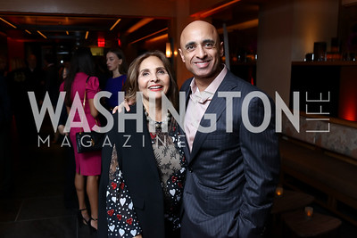 Samia Farouki, Yousef Al Otaiba. Photo by Tony Powell. Nobu DC Opening Sake Ceremony. October 29, 2017