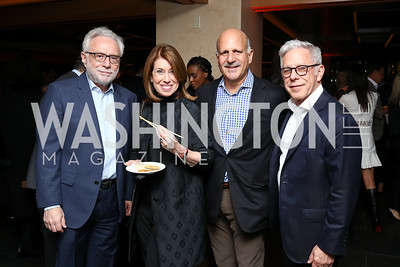 Wolf and Lyn Blitzer, Dave Dorros, Edward Cohen. Photo by Tony Powell. Nobu DC Opening Sake Ceremony. October 29, 2017