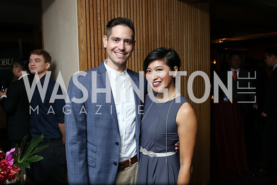 Sean Gannon, Jen Leo. Photo by Tony Powell. Nobu DC Opening Sake Ceremony. October 29, 2017