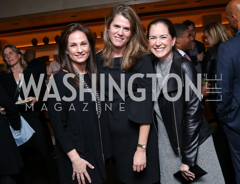 Heather Florance, Marilyn Baker, Lee Satterfield. Photo by Tony Powell. Nobu DC Opening Sake Ceremony. October 29, 2017