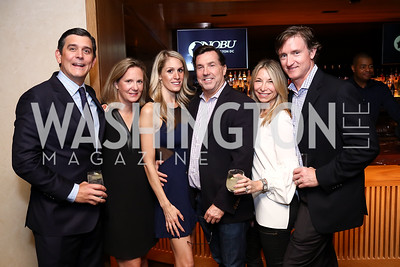 Jarrett and Adrienne Morrell, Alex Thomas, Bobby Schwartz, Melissa and Jeff Webb. Photo by Tony Powell. Nobu DC Opening Sake Ceremony. October 29, 2017