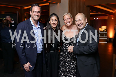 Ian Alberg, Anne Yamamoto, Mary Alberg, Leong Loh. Photo by Tony Powell. Nobu DC Opening Sake Ceremony. October 29, 2017