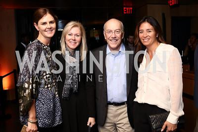 Mae Haney Grennan, DeAnn Marshall, Kurt Newman, Gina Coburn. Photo by Tony Powell. Nobu DC Opening Sake Ceremony. October 29, 2017
