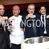 UAE Amb. Yousef Al Otaiba, Nobu Matsuhisa, Robert De Niro, Hiro Tahara. Photo by Tony Powell. Nobu DC Opening Sake Ceremony. October 29, 2017