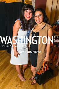 Claudia Salinas, Veronica Duron, Photo by Alfredo Flores. Our Voices - Uplifting Diversity in Media. WeWork White House. April 28, 2017