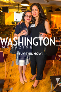 Cynthia Bajjalieth, Reema Dodin. Photo by Alfredo Flores. Our Voices - Uplifting Diversity in Media. WeWork White House. April 28, 2017