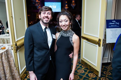 Joseph Van Wye, Michelle Korte. PETA's Party for Animals at The Willard on January 19, 2017. Photo by Joy Asico.
